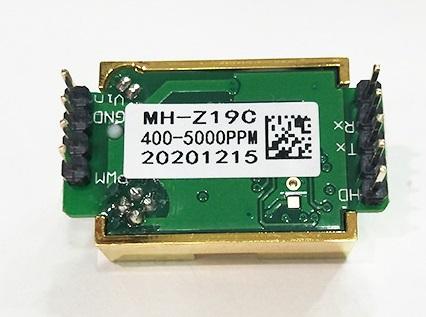 Vista inferior sensor CO2 MH-Z19