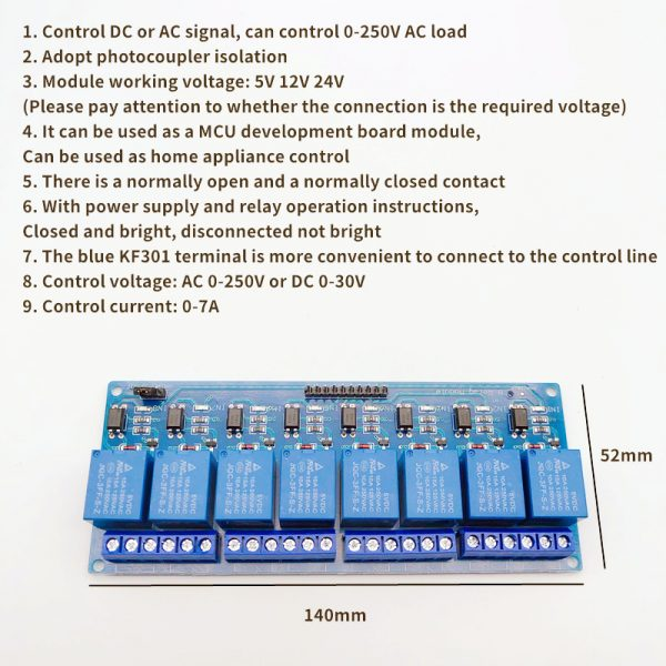 Modulo de 8 reles